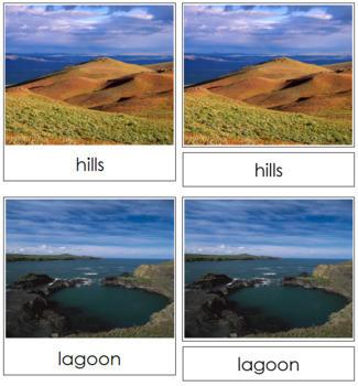 Aquatic and Land Features (Photos) Cards - Set 2