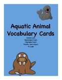 Aquatic/Ocean Animal Vocabulary Words