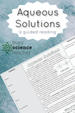 Aqueous Solutions Guided Reading