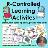 R-Controlled Vowels Bossy R Activities in Color and BW