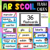 Ar Scoil Flashcards with pictures - Gaeilge