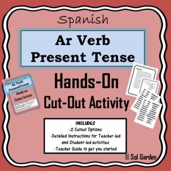 Ar Verb Present Tense Hands-On Practice - Cutout Activities