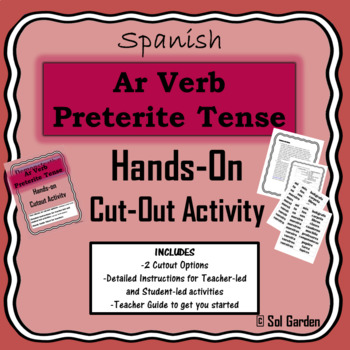 Ar Verb Preterite Tense Hands-On Practice - Cutout Activities