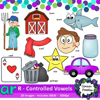 Ar clipart - R Controlled Vowels clipart - Bossy R clipart