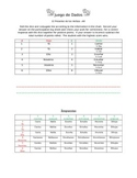 Ar verb dice game and log sheet