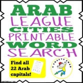 Arab League Country Capitals Word Search {Printable}