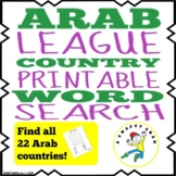 Arab League Country Word Search {Printable}