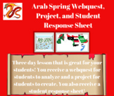 Arab Spring Webquest, Project, and Student Response Sheet