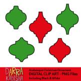 Arabesque Christmas Ornaments Clipart