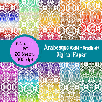 Arabesque Themed Digital Paper