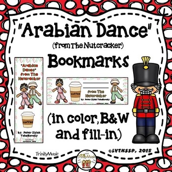 Arabian Dance (from The Nutcracker) Bookmarks