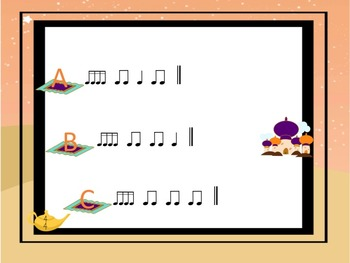 Arabian Nights - A Listening Game for Practicing Sixteenth Notes
