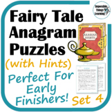 Arabian Nights Reading Puzzle Activities (with Hints)