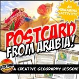 Arabian Peninsula Geography Reading and Postcard Activity