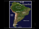 South America Satellite Map Physical Geography PowerPoint Introduction