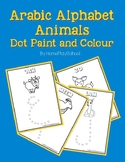 Arabic Alphabet Animals Dot Paint and Colour