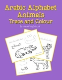 Arabic Alphabet Animals Trace and Colour
