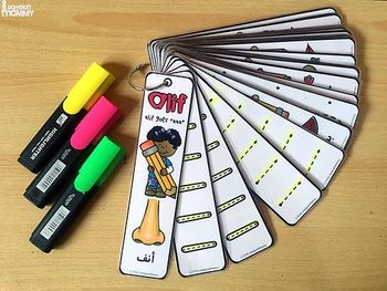 Arabic Alphabet Handwriting Strips