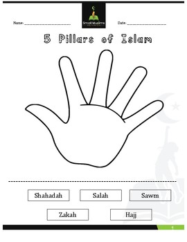 The 5 Pillars of Islam - Cut & Glue Activity