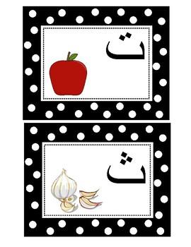 Arabic Alphabet Letters Cards: