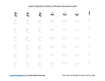 Witty image inside arabic alphabet worksheets printable