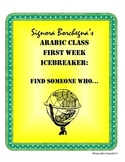 Arabic Class First Week Scavenger Hunt / Find Someone Who