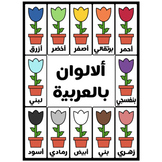 Arabic Colors Flower High Resolution (PNG and PDF)