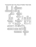 Arabic Crossword Puzzle: Shapes, colors, numbers
