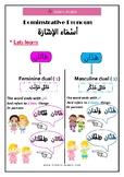 Arabic Demonstrative Pronoun هَاذان و هَاتَان