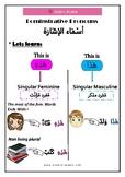 Arabic Demonstrative Pronoun هَذا و هَذِه