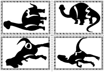 Arabic Dinosaur Number Recognition Cards