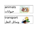 Arabic/English Classroom Labels