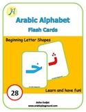 Arabic Alphabets Flash Cards Beginning Letter Shapes