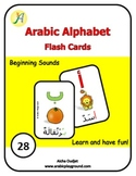 Arabic Alphabets Flash Cards Beginning Sounds