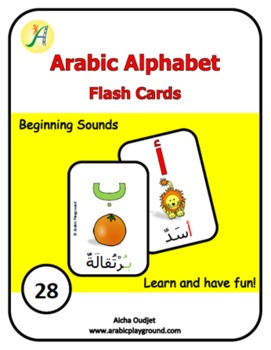 Arabic Alphabets Flash Cards Beginning Sounds
