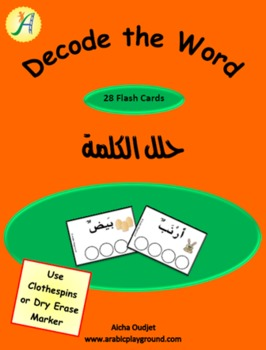 Arabic Alphabets Flash Cards Decode the Word