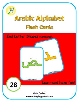 Arabic Alphabets Flash Cards End Letter Shapes (Connected)