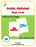 Arabic Alphabets Flash Cards Middle Letter Shapes