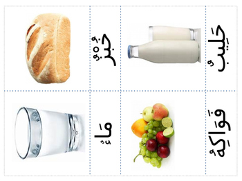 Arabic Food Classified cards / Flashcards