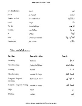 Arabic Greetings with Video (Full Lesson)