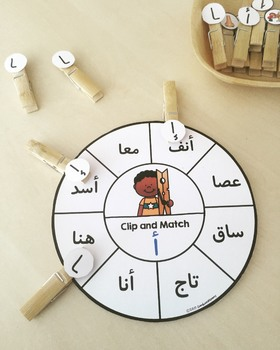 Arabic Letter Forms Letter Wheels