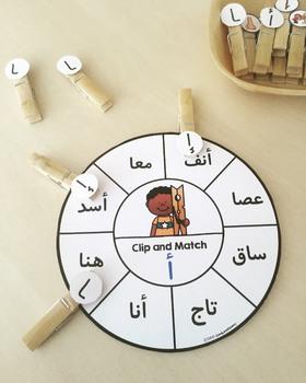 Arabic Letter Forms Letter Wheels