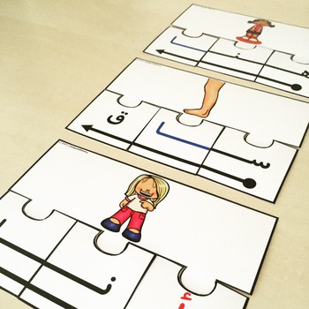 Arabic Letter Forms Word Puzzle Cards
