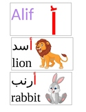 Arabic Letter Word Wall with English Translation