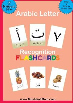Arabic Letters Recognition Flash Cards- Colour