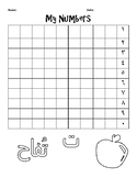 Arabic Number Practice Worksheet (1-10)