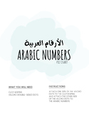 Arabic Numbers Clothespin Wheel
