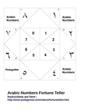 Arabic Numbers Fortune Teller