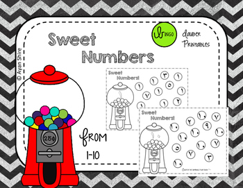 Arabic Numbers from 1-10