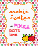 Arabic Poster in Polka Dot Boxes